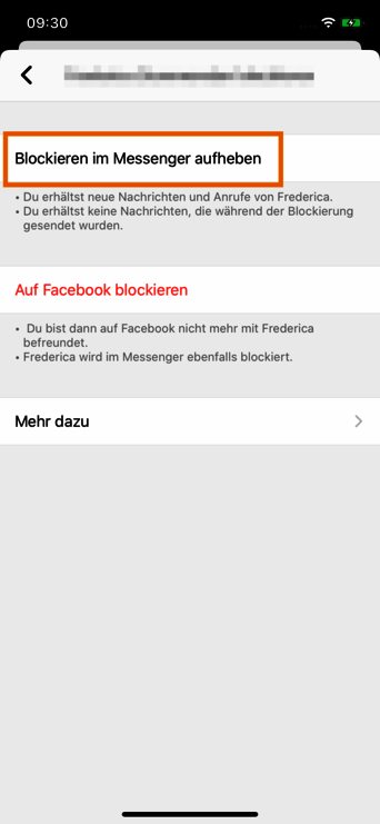Facebook messenger nachrichten ignorieren aufheben