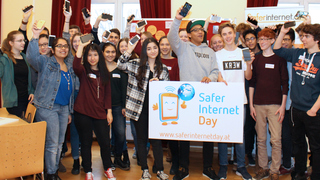 Gruppenbild am Safer Internet Day