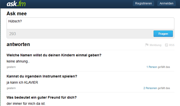 anonyme Fragen snapchat